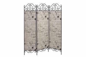 """66735 Metal Canvas Screen 72""""H, 57""""W- Fashion Of Creating Privacies Brand Woodland"""