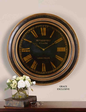 6683 Buckley Clock: Bronze Rings Make It Different Than Others Brand Uttermost