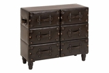 "66865 Wood Leather Cabinet 32""W, 29""H- Space Saving Storage Brand Woodland"