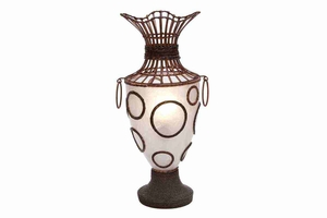 """67655 Wood Resin LAMP 26""""H- Table Lamp With Different Look Brand Woodland"""