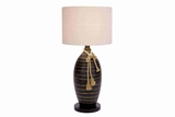 "67658 Polystone Banga Lamp 32""H- Dual Purpose Light Decor Brand Woodland"