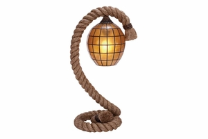 "67662 Metal Rope Pier Floor Lamp 26""H- Makes Particular Spots Attractive Brand Woodland"