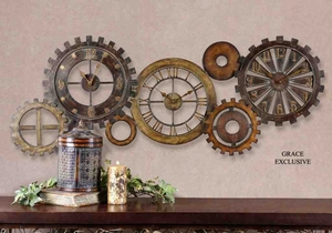 6788 Spare Parts Clock: Wall Clock That Creates Social Image Brand Uttermost