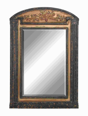 "68""H Simple Wood Frame Mirror Crafted with Fine Detailing Brand Woodland"
