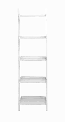 """68""""H Wood Leaning Shelf in Glossy Finish with Rich & Royal Looks Brand Woodland"""