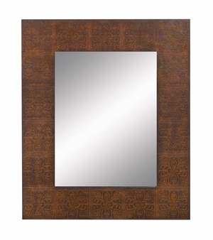 """68492 Wood Mirror 46""""H, 38""""W- Exclusively Designed Wall Mirror Brand Woodland"""