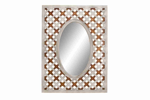 "69146 Wood Mirror 41""H, 30""W- Oval Shape Makes It Attractive Brand Woodland"