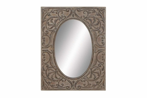 "69171 Metal Mirror 45""H, 34""W- Makes Smaller Spaces Bigger Brand Woodland"