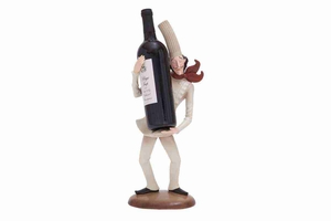 "69356 Polystone Chef Wine Holder 18""H, 7""W- Bar D�cor Brand Woodland"