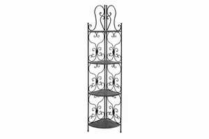 "69873 Metal Wood Corner Rack 66""H, 18""W- Purposeful Corner Decor Brand Woodland"