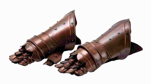 "7""H Unique Metal Armor Gloves Antique Appearance (Set of 2) Brand Woodland"