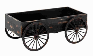 "7""H Wood Decor Cart in Light Grey Background with Royalty Look Brand Woodland"