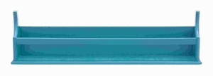 """7""""H Wood Wall Shelf in Smooth Blue Finish and Minimalistic Design Brand Woodland"""