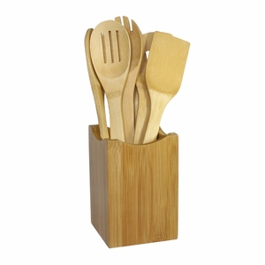 7 Piece Bamboo Cooking Utensil Set by Oceanstar
