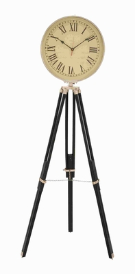 "71"" H Elegant Designed Metal Wood Clock with Ivory Hued Dial Brand Woodland"