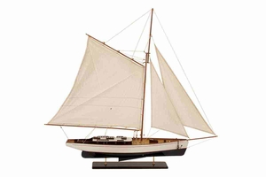 "71589 Wood SHIP  51""W, 48""H- Low Cost Table Top Nautical Decor Brand Woodland"