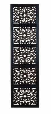 """72"""" Ebony Black Hand Carved with Wood Wall Decor Sculpture Brand Woodland"""