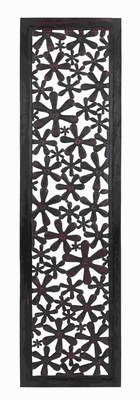 "72"" H Wall Panel with Repetitive Floral Pattern & Glossy Finish Brand Woodland"