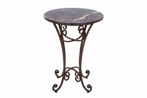 """74385 Metal Marble Accent Table 26""""H, 20""""W- Simply Any Time Best Buy Brand Woodland"""