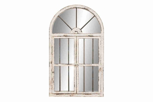 "74397 Wood Window Mirror 42""H, 25""W- Excellent Wall Decor Brand Woodland"