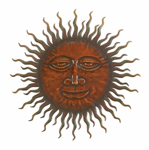 "75626-Cosmic Sun Wall Decor Sclupture 24"" Dia I Brand Woodland"