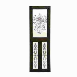 """78""""H Simple Designed Wood Mirror Wall Decor with Floral Design Brand Woodland"""