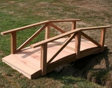 8' Cedar Pearl River Garden Bridge by Creekvine Design