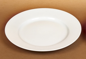 "8"" Classic Ceramic Salad Bread Plates in White - Set of 36"