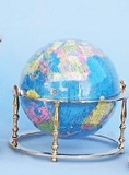 "8"" Earth Globe With Brass Ring And Base Hot Deal Brand Wild Orchid"