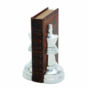 "8"" H Aluminium Bookend Pair with Adorably Designed Bookends Brand Woodland"