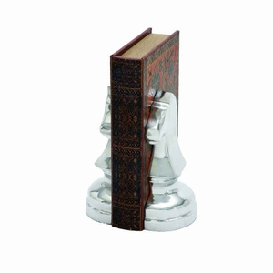 "8"" H Aluminium Bookend With Sturdy Design And Stable Base - 28363 by Benzara"