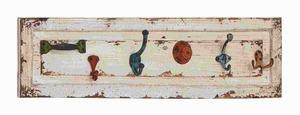 """8""""H Classic Wood and Metal Wall Hook with and Sturdy Design Brand Woodland"""