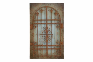"80956 Wood Metal Wall Decor 36""H, 22""W- Brings Spacious Look Brand Woodland"