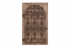 "80957 Wood Metal Wall Decor 36""H, 22"" � Makes The Small Rooms Bigger Brand Woodland"