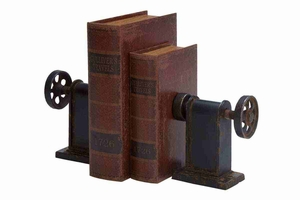 """80973 Metal Bookends Pair 8""""H, 7""""W- Perfect Affordable Gift Brand Woodland"""