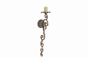 "80980 Metal Candle Sconce 24""H, 7""W- Unique Of Candle Decor Brand Woodland"