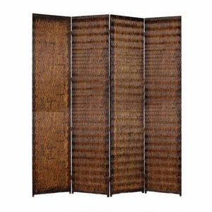 "84"" Danyl Screen Crafted with Unique Brown Metallic Finish Brand Screen Gem"