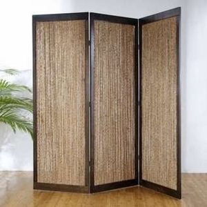 "84"" Ludhiana 4 Panel Screen Crafted with Natural Color Finish Brand Screen Gem"