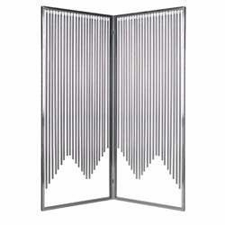 "84"" Stainless Steel Ensemble Screen with Intricate Detailing Brand Screen Gem"