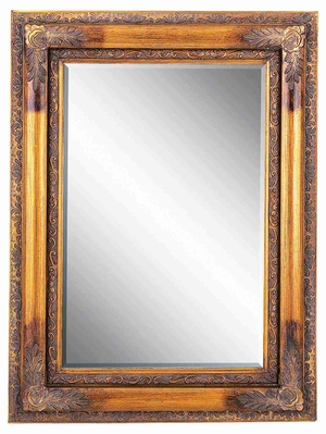 "88421 Wood Beveled Mirror 48""H,36""W- Artistic Wall Decor Brand Woodland"