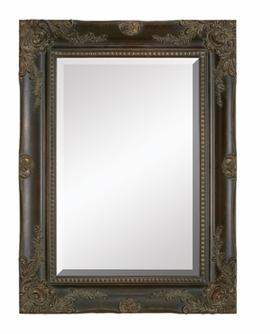 "88491 Wood Bevel Mirror 48""H,36""W: Looking Mirror To Feel Great Brand Woodland"