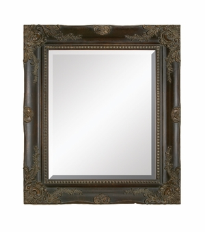 "88492 Wood Bevel Mirror 36""H,32""W: Choice Of Real Decor Lovers Brand Woodland"