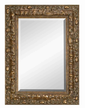 "88495 Wood Bevel Mirror 48""H,36""W- Purposeful Unique Wall Decoration Brand Woodland"