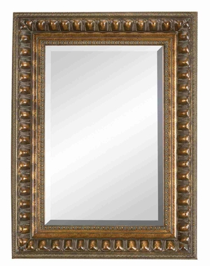 "88497 Wood Bevel Mirror 48""H, 36""W- Wall Decor With Classic Look Brand Woodland"