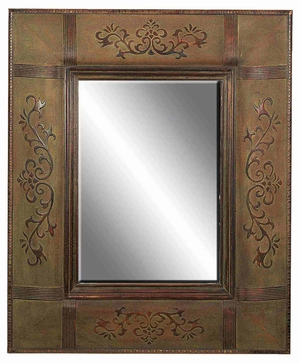 "89219 Wood Mirror 45""H, 37""W- Affordable Home Decor Upgrade Brand Woodland"