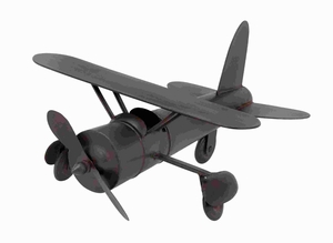 "9""H Metal Plane in Rich Chocolate Color Finish with Easy Mobility Brand Woodland"