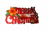 "9"" Merry Xmas Sign Indoor Hanging Decor w/ 20 Halogen Lights by Alpine Corp"