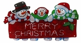 "9"" Snowman Family Indoor Hanging Decor w/ 20 Halogen Lights by Alpine Corp"
