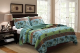 90x90 Claremont Mara Quilt set in multi-color