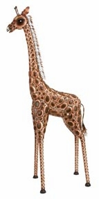 "91"" Huge Giraffe Safari Metal Statue Sculpture in Brown Brand Woodland"